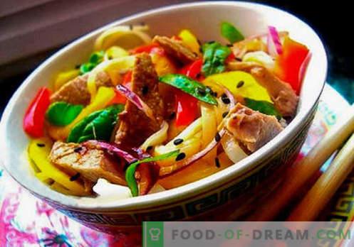 Tailando salotos - penki geriausi receptai. Kaip tinkamai ir skaniai Tailando salotos virti.