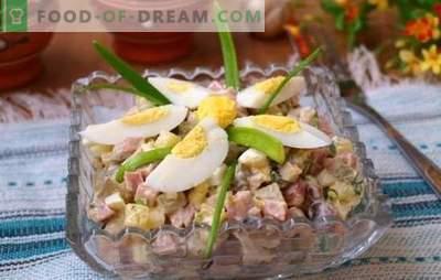 Kiaušinių ir kumpio salotos yra užkandis bet kokiai progai. Top 12 geriausių receptų salotoms su kiaušiniu ir kumpiu: maitinantis ir lengvas