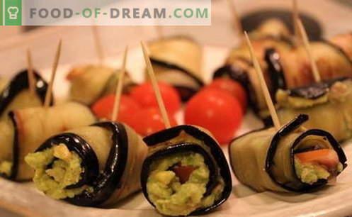 Baklažanų ritiniai yra geriausi receptai. Kaip tinkamai ir skaniai virti baklažanų ritinius.