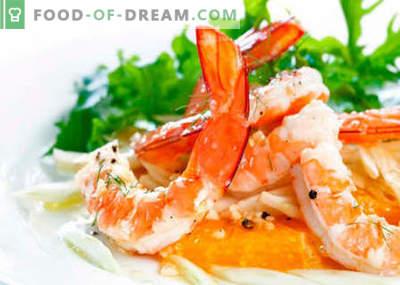 Salotos su krevetėmis ir sūriu - geriausi receptai. Kaip tinkamai ir skaniai virti salotos su krevetėmis ir sūriu.