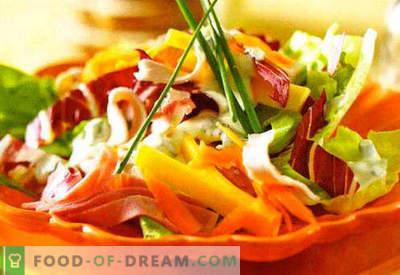 Salotos su grietine - geriausių receptų pasirinkimas. Kaip tinkamai ir skanios salotos su grietine.