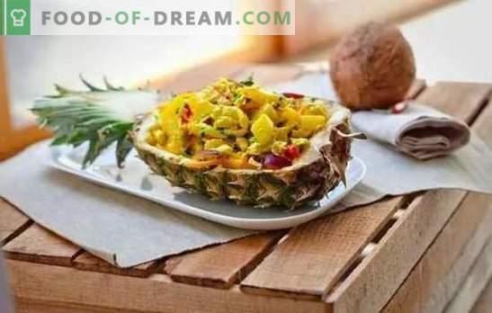 Vistas gaļa ar ananāsiem: receptes, soli pa solim un detalizēti, ar visiem trikiem. Sulīgs vistas gaļa ar ananāsiem (apraksts pa solim)