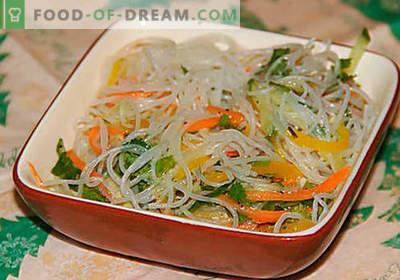 Funchoza z warzywami - najlepsze przepisy. Jak prawidłowo i smacznie gotować funchozę z warzywami w domu.