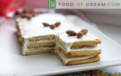 Bananų pyragas be kepimo su sausainiais ir kondensuotu pienu yra skanus! Kaip greitai padaryti bananų tortą be kepimo su sausainiais ir kondensuotu pienu