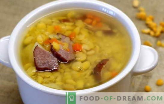 Žirnių sriuba su jautiena - paprasta ir turtinga. Geriausi žirnių sriuba su jautiena receptai: paprasta ir sudėtinga