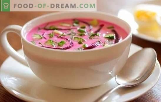 Šaltoji sriuba: žingsnis po žingsnio receptas - dalyko karštyje! Žingsnis po žingsnio receptai, skanus šalto borskito virimo paslaptys