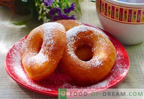 Donutai yra geriausi receptai. Kaip tinkamai ir skaniai virti spurgos jogurtui ir varškės spurgoms.