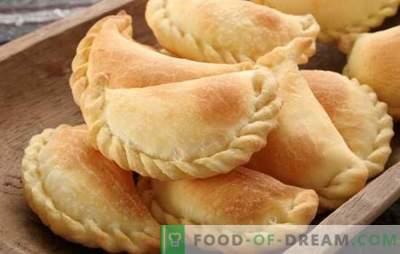 Chebureks orkaitėje - greitai, paprastai, bet kaip skanus! Receptai, skirti gaminti pyragus krosnyje iš įvairių rūšių tešlos ir užpildymo