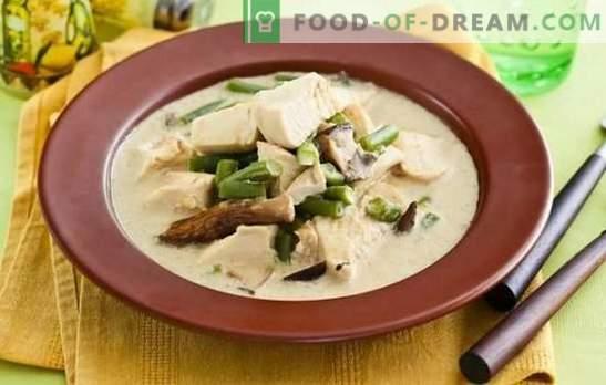 Fricassee grietinėlės padaže yra paprastas prancūzų virtuvės indas. Maisto gaminimo galimybės grietinėlės padaže su grybais, daržovėmis ir sūriu