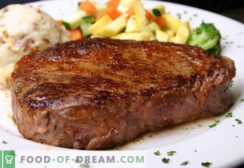 Beefsteak - geriausi receptai. Kaip tinkamai ir skaniai virti kepsnys jautienos, kapotų ir smulkintų.