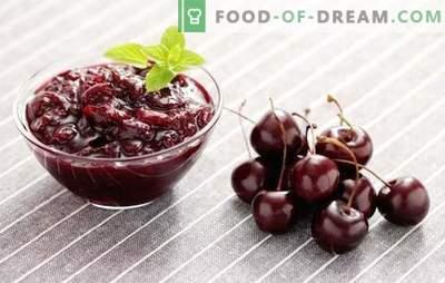 Saldžių vyšnių uogienė yra švelnus pasiruošimas žiemai. Saldžių vyšnių uogienės receptai: su citrina, serbentais, braškėmis, rožių žiedlapiais
