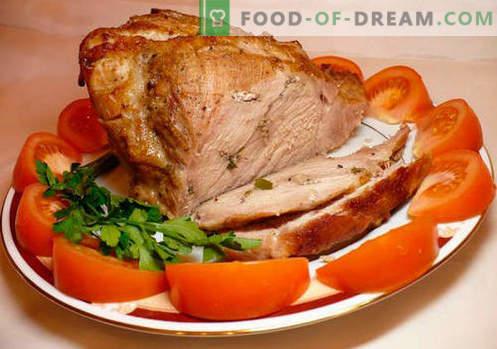 Naminis kiauliena - geriausi receptai. Kaip tinkamai ir skaniai virti kiauliena namuose.