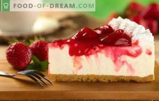 Чийзкейк с ягоди - въплъщение на нежност. Рецепти за сладкиши с ягоди: бисквити, желе, бисквити
