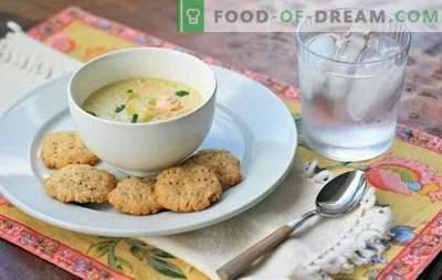 Ribja juha s smetano - alternativa ušesu. Najboljši recepti za ribjo juho s kremo lososa, skuše, polaka, postrvi in roza lososa