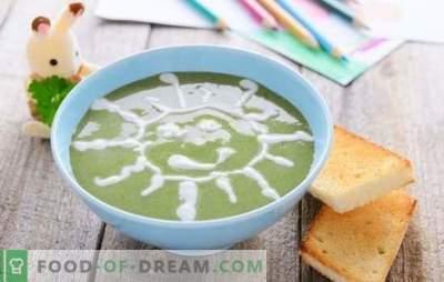 Sriubos tyrė vaikams - patiekalai iš erdvės meniu! Įvairių sriubų rinkinys vaikams su grūdais, daržovėmis, mėsa