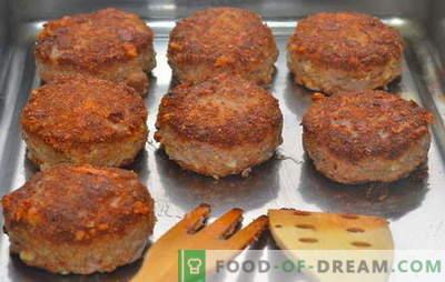 Cotolette di carne tritata nel forno - sempre successo! Ricette polpettine di carne macinata al forno: con maiale, manzo e pollame