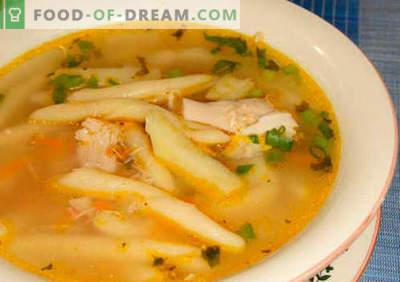 Makaronų sriuba - patvirtinti receptai. Kaip tinkamai ir skaniai virti sriuba su makaronais.