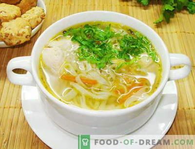 Vištienos makaronų sriuba - geriausi receptai. Kaip tinkamai paruošti sriubos vištienos makaronus.