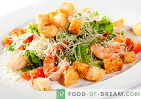Jūros gėrybių salotos - patvirtinti receptai. Kaip tinkamai ir skaniai virti jūros gėrybių salotos.