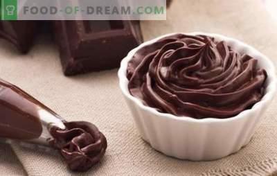 Šokoladinis ganache, skirtas padengti pyragą - receptai ir maisto ruošimas. Visos taisyklės ir receptai šokolado ganashes pyragai