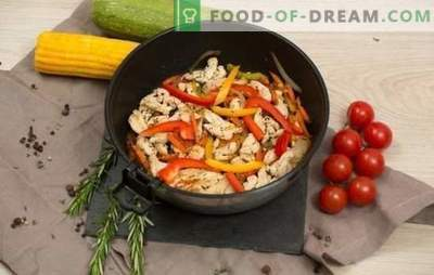 Fricassee su daržovėmis - įvairūs ingredientai ir pikantiški skoniai. Fricassee receptai su daržovėmis: vegetariška, vištiena, žuvis, ėriena arba kiauliena.