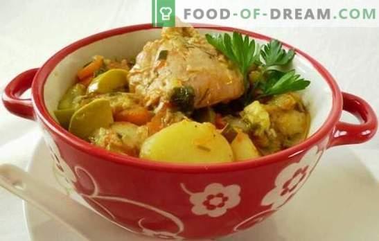 Ragoutas su vištiena lėtoje viryklėje - maitinamasis dietinis patiekalas. Kaip virti vištienos troškinį lėtoje viryklėje, išlaikant daržovių privalumus