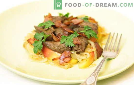 Vištienos kepenys su svogūnais - kepkite tėvams, vaikams ir anūkams! Geriausių troškintų, keptų vištienos kepenų su svogūnų receptais pasirinkimas