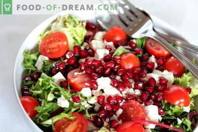 Granatų salotos su vištiena - geriausi receptai. Kaip tinkamai ir skaniai virti granatų salotos su vištiena.