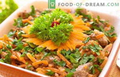 Salata de ficat de pui - retete dovedite. Cum să preparați în mod corespunzător și delicios o salată de ficat de pui.