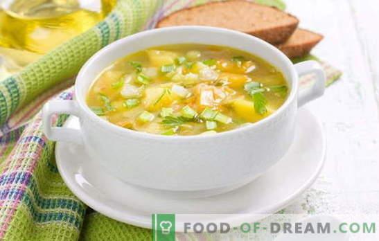 Virti žirnių sriuba be mėsos: valgyti be papildomų kalorijų. Grybų, kopūstų ir grietinėlės žirnių sriubos be mėsos
