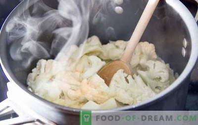 Quanto cucinare il cavolfiore: fresco e congelato. Diversi metodi e ricette: come cucinare il cavolfiore per diversi piatti