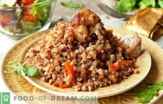 Grikiai daugelyje viryklių daugkartinėje viryklėje - istorinė vakarienė. Grikių receptai prekybininko lėtoje viryklėje su kiauliena, vištiena, grybais ir kt.