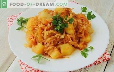 Kopūstų troškinys su bulvėmis ir smulkinta mėsa - kombinacija tiems, kurie mėgsta valgyti. Klasikinis daržovių troškinys skubėti!