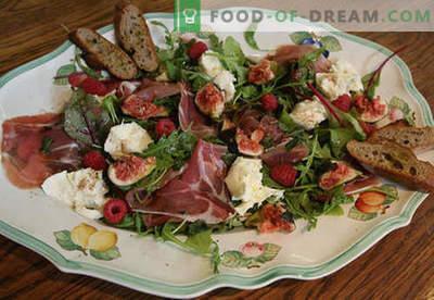Mozzarella salotos - patvirtinti receptai. Kaip paruošti salotą su mocarelomis.
