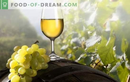 Baltasis vynas namuose: tikriems gurmanams. Baltųjų vyno receptai namuose: vynuogės, vyšnių slyvos, agrastai