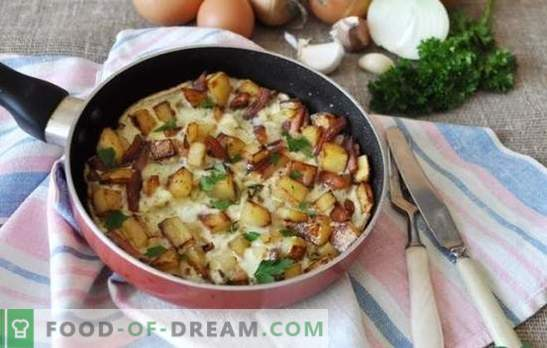 Onion omelet - savory breakfast for the whole family. The best recipes for scrambled eggs with onions in a pan, in a slow cooker and oven