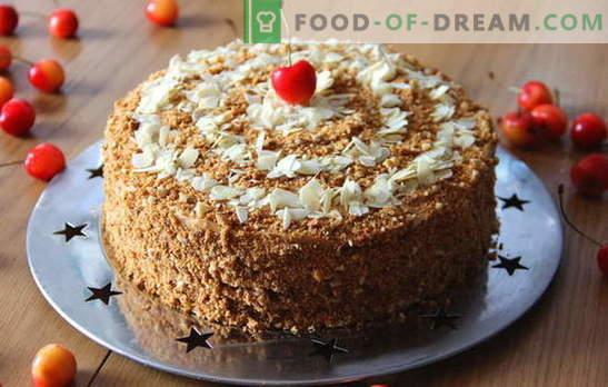 Skaniausias medaus pyragas namuose. Medaus torto variantai namuose su subtiliu kremu ir užpildu
