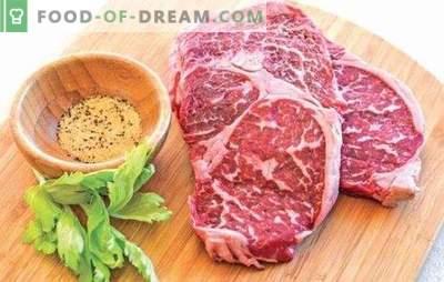 Marmurinis jautienos kepsnys - mėsos delikatesas! Receptai ir visi marmuro jautienos kepsnių virimo būdai orkaitėje, viryklėje ir ant grotelių