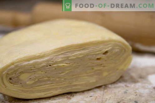 Saldūs pyragaičiai - geriausi receptai. Kaip paruošti lapų tešlą.