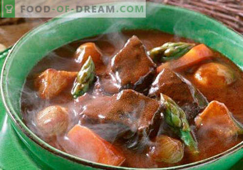 Guliašų sriuba - įrodyta receptai. Kaip tinkamai ir skaniai virti guliašų sriuba.