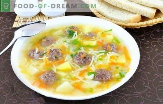 Sriuba su mėsos ir makaronais - skanūs pietūs yra paprasta! Geriausi sriubų su mėsos ir makaronų receptai