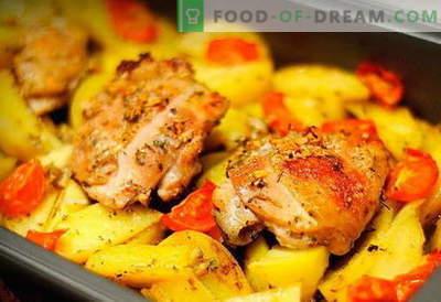Vištiena su bulvėmis orkaitėje - geriausi receptai. Kaip tinkamai ir skaniai virti orkaitės vištiena su bulvėmis orkaitėje.