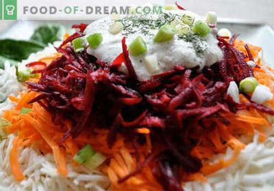 Burokėlių ir morkų salotos - geriausių receptų pasirinkimas. Kaip tinkamai ir skaniai paruošti burokėlių ir morkų salotą.