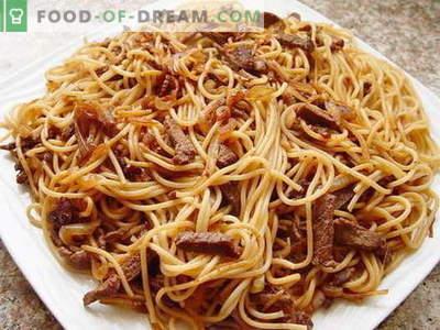 Makaronai su mėsa - geriausi receptai. Kaip tinkamai ir skaniai virti makaronų su mėsa.