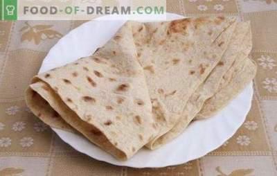 Pita duona namuose - įvairių plokščių pyragų receptas. Naudingi patarimai ir pita duonos receptai namuose