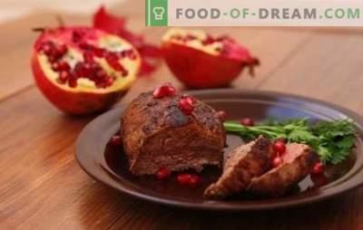 Granatų marinatas - turtingas skonis! Receptai marinatai iš granatų sulčių skirtingoms mėsai, naminiams paukščiams, žuvims