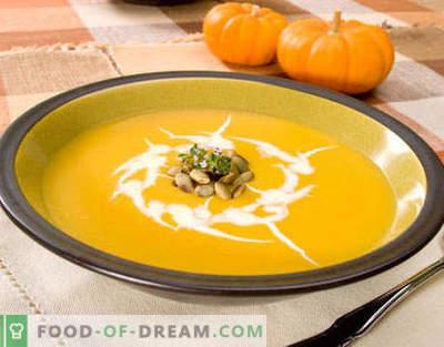 Moliūgų sriuba - geriausi receptai. Kaip tinkamai ir skaniai virti moliūgų sriuba.