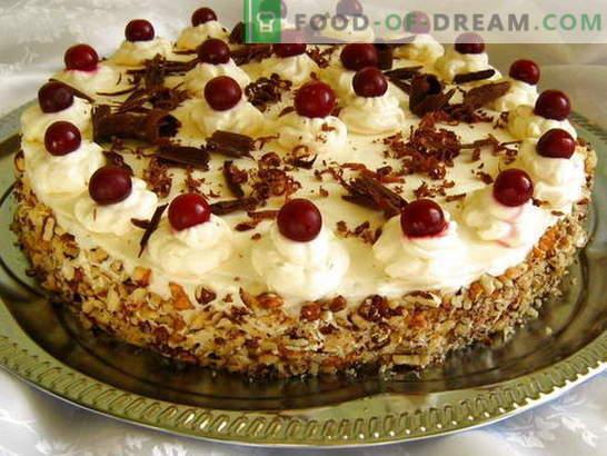 Mes paruošiame tortą namuose mūsų gimtadieniui (nuotraukai)! Receptai įvairiems naminiams gimtadienio pyragams su nuotraukomis