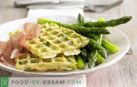 Bulvių vafliai yra super garnyras! Receptai užkandžiai bulvių vafliai su svogūnais ir česnakais, sūriu, vištiena, lašiša, apvaisinti kiaušiniai