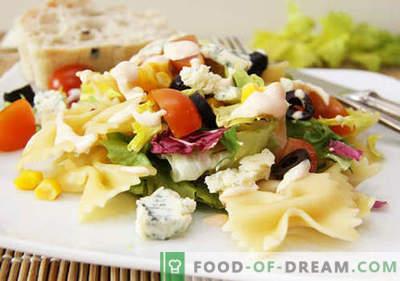 Salotos su alyvuogėmis - penki geriausi receptai. Kaip tinkamai ir skaniai paruošti salotas su alyvuogėmis.